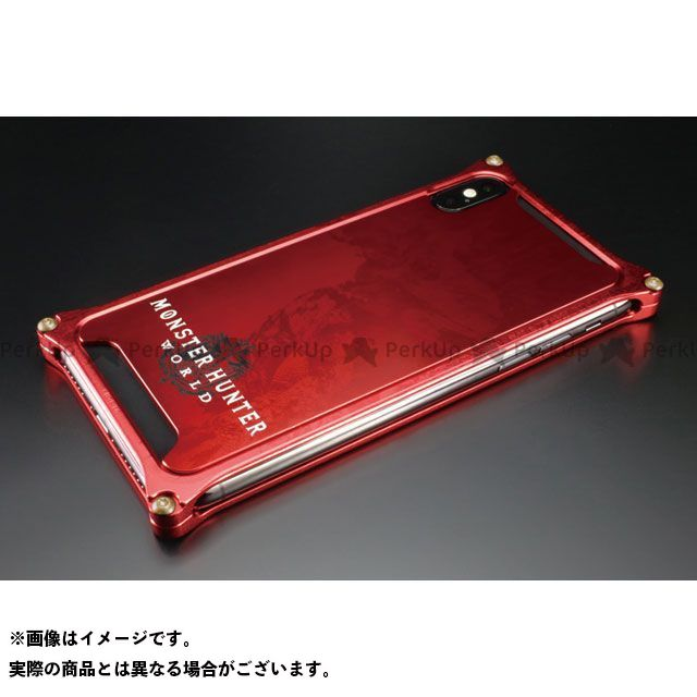 GILD design 小物・ケース類 GI-MON-8 MONSTER HUNTER: WORLD Solidbumper for iPhoneXs/X ネルギガンテ レッド GILD design(mobile item)