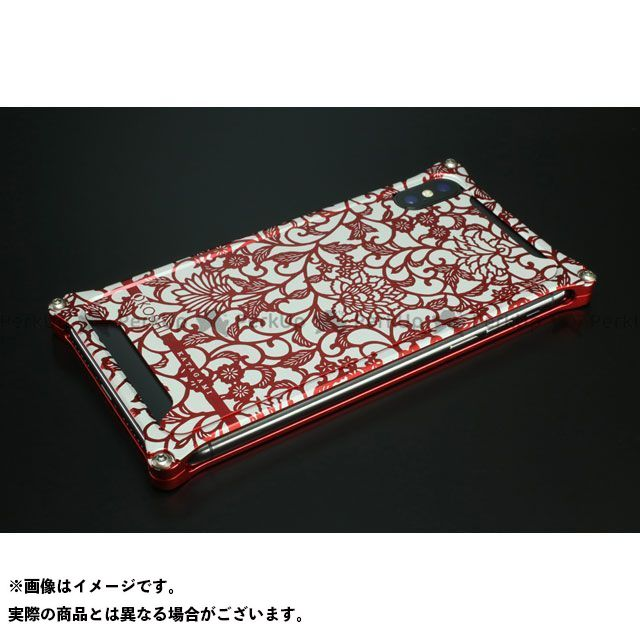 GILD design 小物・ケース類 GOK-422AR OKOSHI-KATAGAMI アラベスク for iPhoneXs/X(レッド) GILD design(mobile item)