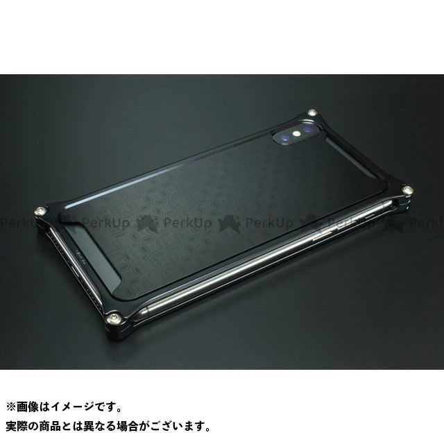 GILD design 小物・ケース類 GOK-422SB OKOSHI-KATAGAMI 七宝 for iPhoneXs/X(ブラック) GILD design(mobile item)