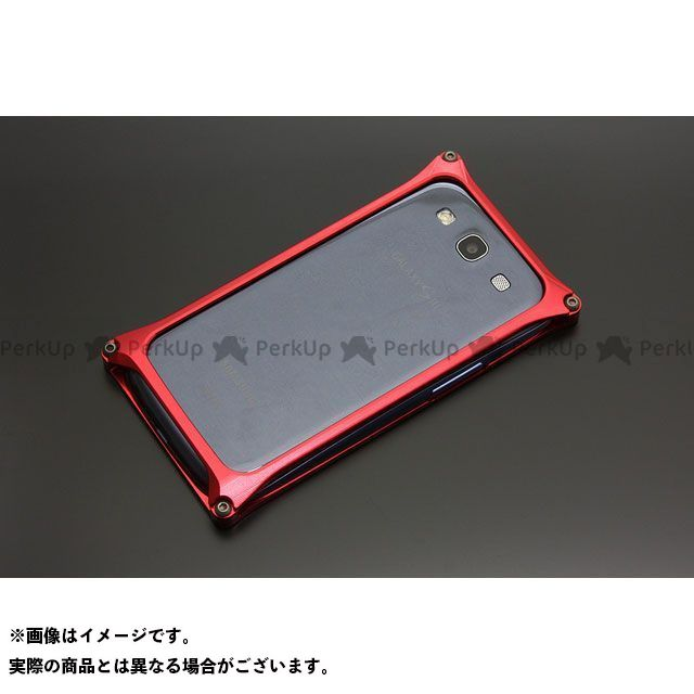 GILD design 小物・ケース類 GG-104R ソリッドバンパー for GALAXY S3/S3α(レッド) GILD design(mobile item)