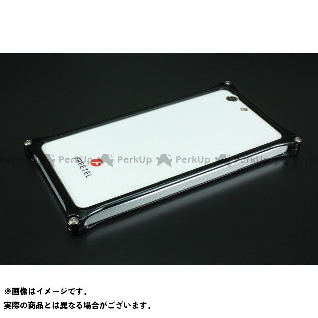 GILD design 小物・ケース類 GF-100B ソリッドバンパー for FREETEL「雅 MIYABI」 ブラック GILD design(mobile item)