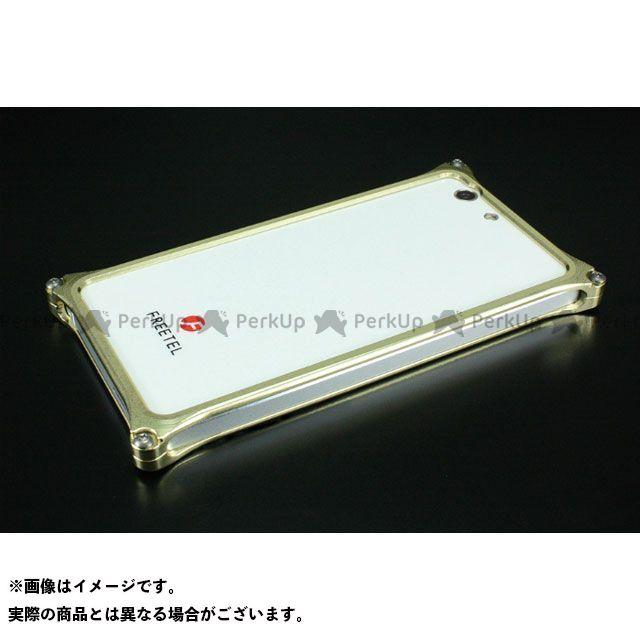 GILD design 小物・ケース類 GF-100CG ソリッドバンパー for FREETEL「雅 MIYABI」 シャンパンゴールド GILD design(mobile item)