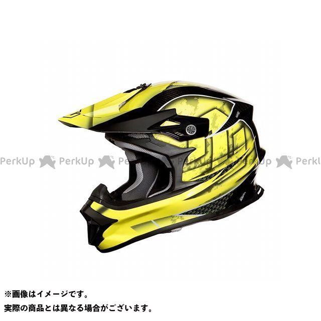 ZEALOT ジーロット オフロードヘルメット ヘルメット ジーロット オフロードヘルメット MadJumper II(マッドジャンパー2) CARBON HYBRID GRAPHIC YELLOW XL ZEALOT