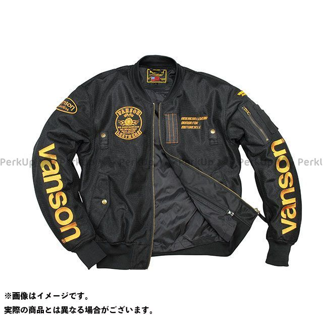 バンソン ジャケット 2020春夏モデル VS20102S メッシュジャケット(ブラック/イエロー) サイズ:XL VANSON