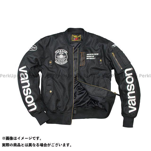 バンソン ジャケット 2020春夏モデル VS20102S メッシュジャケット(ブラック/ホワイト) サイズ:L VANSON