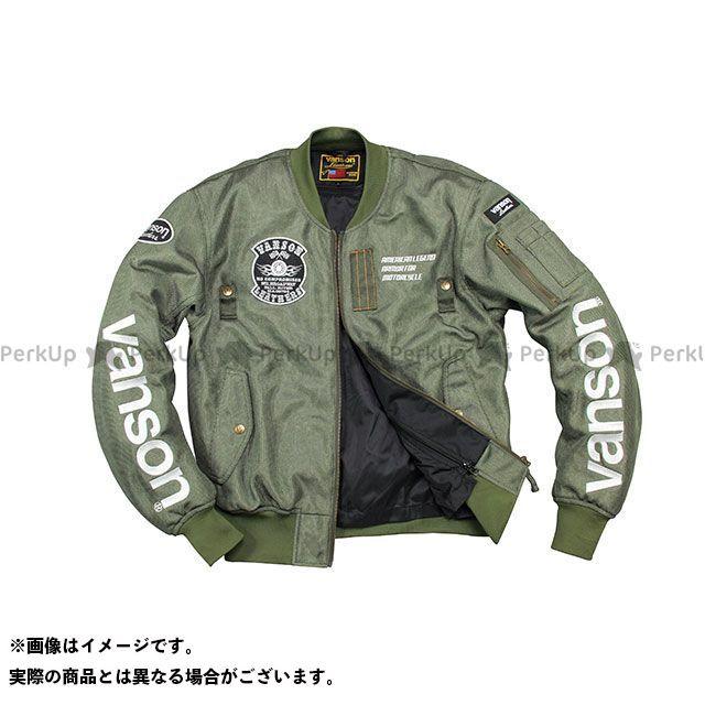バンソン ジャケット 2020春夏モデル VS20102S メッシュジャケット(カーキ) サイズ:XL VANSON