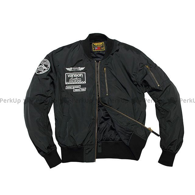 バンソン ジャケット 2020春夏モデル VS20104S ナイロンジャケット(ブラック/ホワイト) サイズ:M VANSON