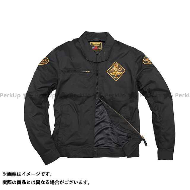 バンソン ジャケット 2020春夏モデル VS20105S ナイロンジャケット(ブラック/イエロー) サイズ:2XL VANSON