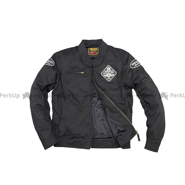 バンソン ジャケット 2020春夏モデル VS20105S ナイロンジャケット(ブラック/ホワイト) サイズ:L2W VANSON