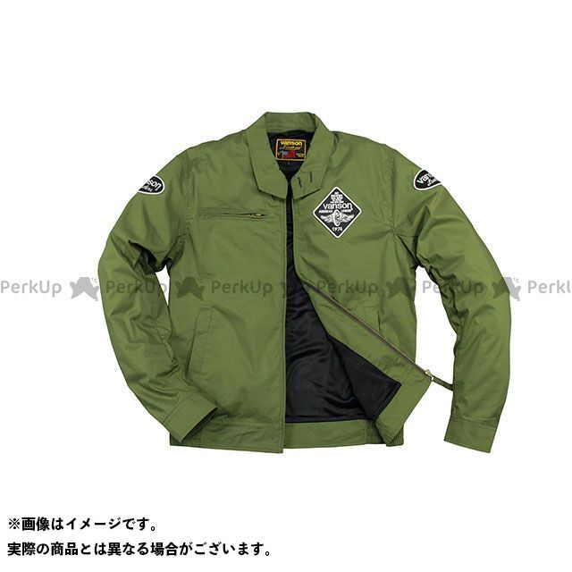 バンソン ジャケット 2020春夏モデル VS20105S ナイロンジャケット(カーキ) サイズ:XL VANSON