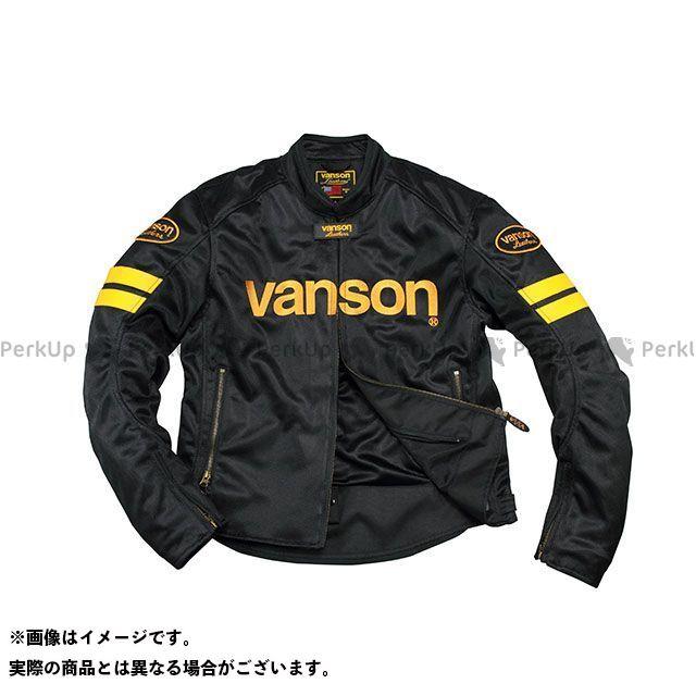 バンソン ジャケット 2020春夏モデル VS20106S メッシュジャケット(ブラック/イエロー) サイズ:L2W VANSON