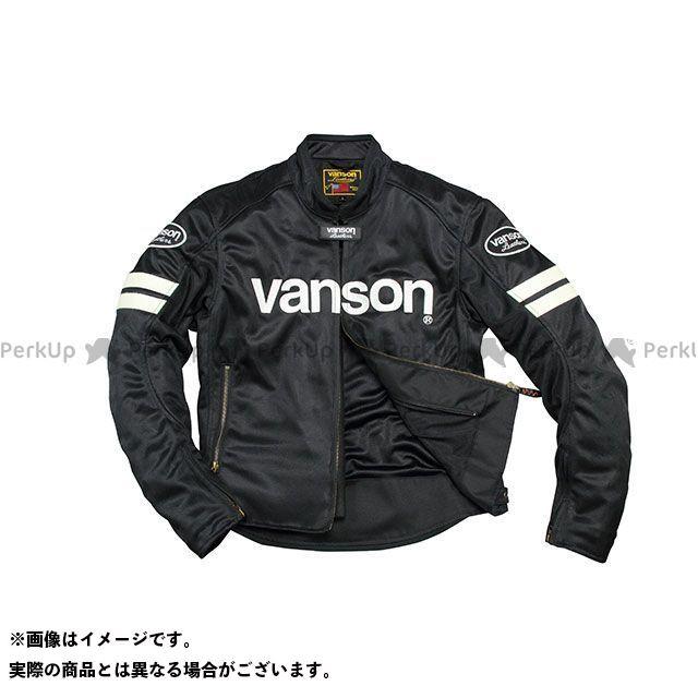 バンソン ジャケット 2020春夏モデル VS20106S メッシュジャケット(ブラック/ホワイト) サイズ:2XL VANSON
