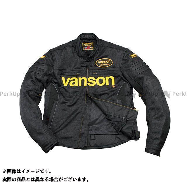 バンソン ジャケット 2020春夏モデル VS20107S メッシュジャケット(ブラック/イエロー) サイズ:L VANSON