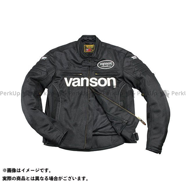 バンソン ジャケット 2020春夏モデル VS20107S メッシュジャケット(ブラック/ホワイト) サイズ:XL VANSON
