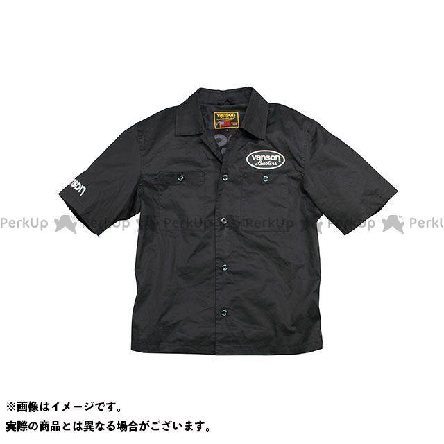 バンソン ジャケット 2020春夏モデル VS20108S ワークシャツ(ブラック/ホワイト) サイズ:3XL VANSON