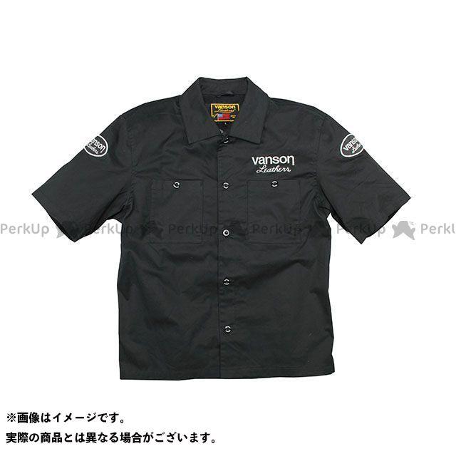 バンソン ジャケット 2020春夏モデル VS20109S ワークシャツ(ブラック/ホワイト) サイズ:XL VANSON