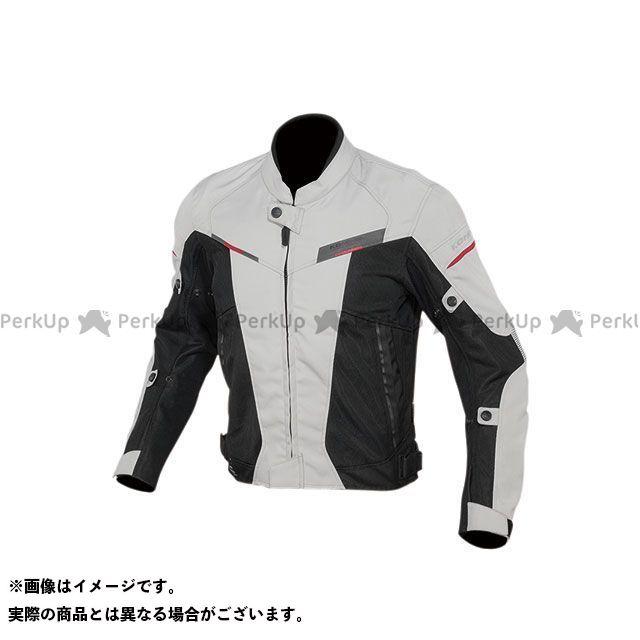 KOMINE ジャケット 2020春夏モデル JK-141 プロテクトハーフメッシュジャケット(ライトグレー/ブラック) サイズ:L コミネ