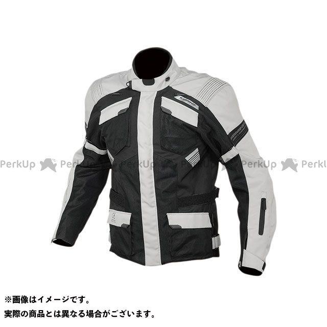KOMINE ジャケット 2020春夏モデル JK-142 プロテクトアドベンチャーメッシュジャケット(ライトグレー/ブラック) サイズ:L コミネ
