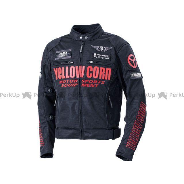YeLLOW CORN ジャケット 2020春夏モデル YB-0102 メッシュジャケット(ブラック/レッド) サイズ:L イエローコーン