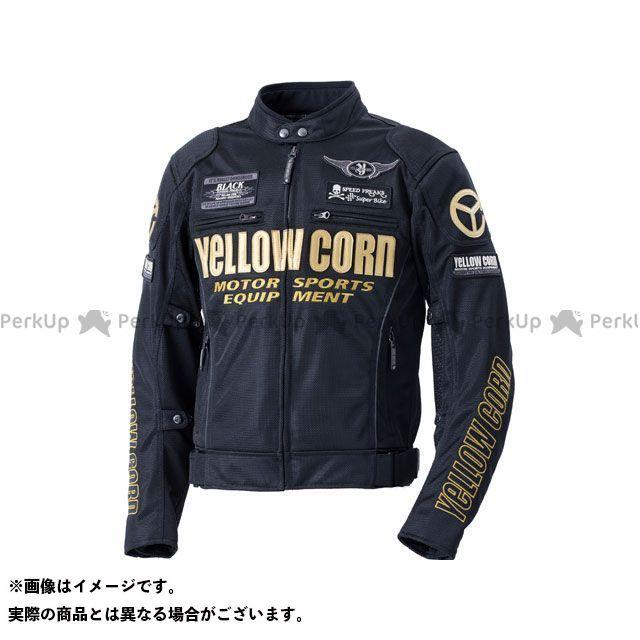 YeLLOW CORN ジャケット 2020春夏モデル YB-0102 メッシュジャケット(ブラック/ゴールド) サイズ:LL イエローコーン