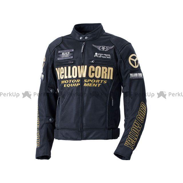 YeLLOW CORN ジャケット 2020春夏モデル YB-0102 メッシュジャケット(ブラック/ゴールド) サイズ:3L イエローコーン
