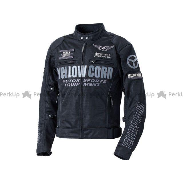 YeLLOW CORN ジャケット 2020春夏モデル YB-0102 メッシュジャケット(ブラック/ガンメタル) サイズ:LL イエローコーン