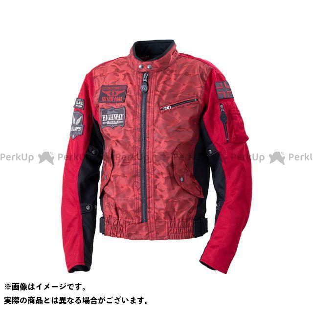 YeLLOW CORN ジャケット 2020春夏モデル YB-0103 コンビメッシュジャケット(レッドカモフラージュ) サイズ:3L イエローコーン