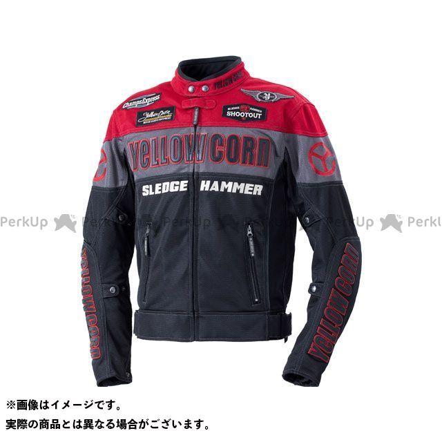 YeLLOW CORN ジャケット 2020春夏モデル BB-0104 メッシュジャケット(レッド/ブラック) サイズ:M イエローコーン