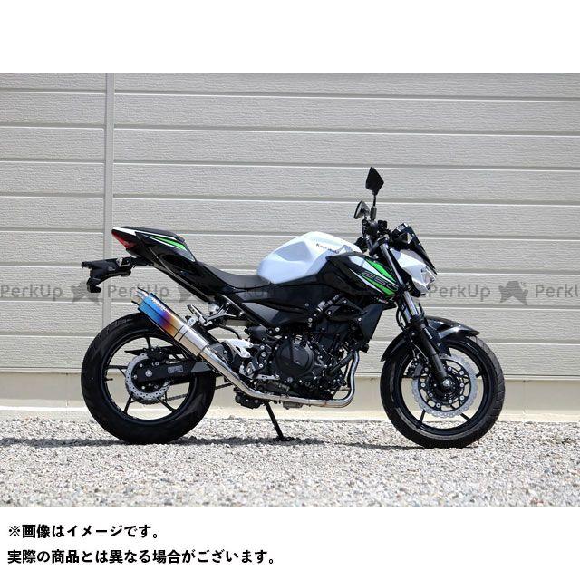 WR'S Z250 マフラー本体 ラウンドフルエキゾースト ステンレス/チタン(焼色) WR'S