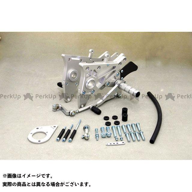 【無料雑誌付き】WR'S ニンジャ900 バックステップ関連パーツ バトルステップ3ポジション シルバー WR'S