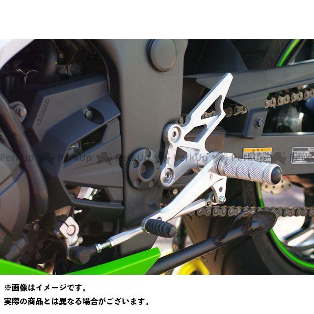 【無料雑誌付き】WR'S ニンジャ250 ニンジャ250R Z250 バックステップ関連パーツ バトルステップ1ポジション シルバー WR'S
