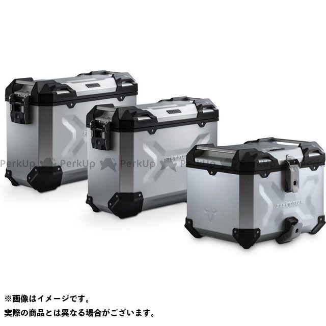 SW-MOTECH R1200GS R1200GSアドベンチャー R1250GS ツーリング用ボックス アドベンチャーセット ラゲッジ-シルバー-BMW R 1200 GS LC(13-). ADV.07.664.75001/S SWモテック