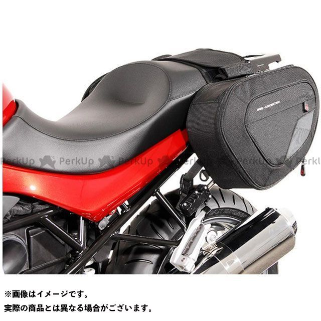 SW-MOTECH R1200R ツーリング用バッグ BLAZE サドルバッグセット -ブラック/グレー- BMW R 1200 R(11-14).|BC.HTA.07.740.10101/B SWモテック