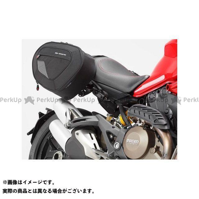 SW-MOTECH モンスター1200 モンスター821 ツーリング用バッグ BLAZE H(ブレイズH)サドルバッグセット ブラック/グレー Ducati Monster 821、1200/S.|BC.HTA.22.740 SWモテック