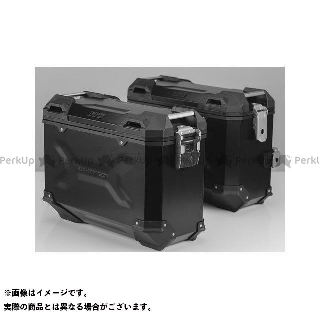 SW-MOTECH CB500F CB500X CBR500R ツーリング用ボックス 【トラックス ADV】 アルミニウム パニアシステムセット、ブラック 37/37 l、CB500X、CB500F、CBR500R(-15) SWモテック