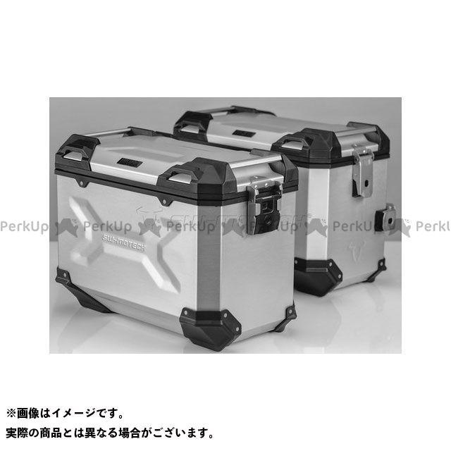 SW-MOTECH CB500F CB500X CBR500R ツーリング用ボックス 【トラックス ADV】 アルミニウム パニアシステムセット、シルバー 45/45 l、CB500X、CB500F/CBR500R(-15) SWモテック