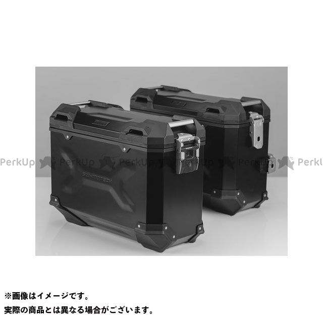 SW-MOTECH XL700Vトランザルプ ツーリング用ボックス TRAX(トラックス)ADV パニアシステム ブラック 37/37 L、Honda XL 700 V Transalp(07-) SWモテック