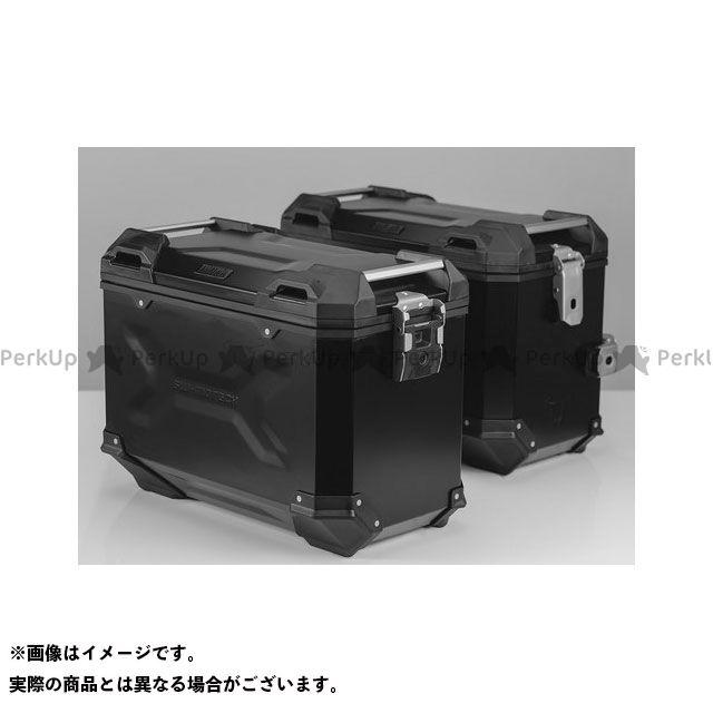 SW-MOTECH NC750S NC750X ツーリング用ボックス 【トラックス ADV】 アルミニウム パニアシステムセット、ブラック 45/45 l Honda NC 750X/750S(16-) SWモテック