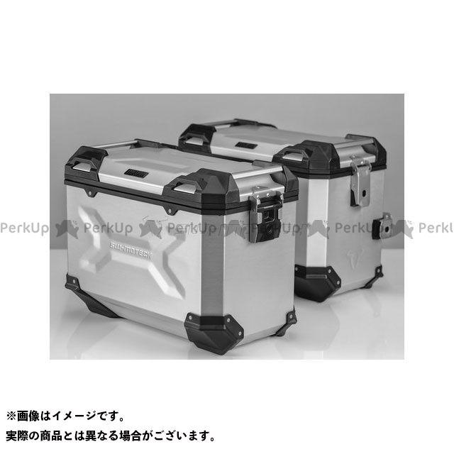 SW-MOTECH NC750S NC750X ツーリング用ボックス 【トラックス ADV】 アルミニウム パニアシステムセット、シルバー 45/45 l Honda NC 750X/750S(16-) SWモテック