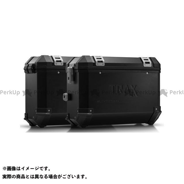 SW-MOTECH 990 SM R 990 SM T その他のモデル ツーリング用ボックス TRAX(トラックス)ION アルミケースシステム ブラック 37/37 l.KTM 990 SM/SM-T/SM-R/950 SM|KF SWモテック