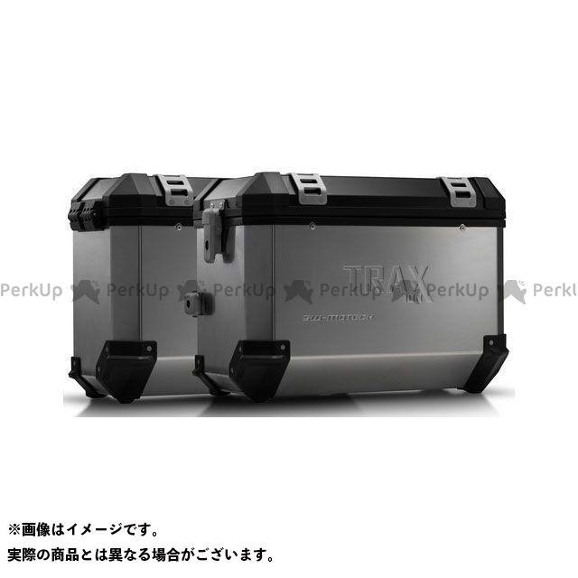 SW-MOTECH Vストローム650 ツーリング用ボックス TRAX(トラックス)ION アルミケースシステム シルバー 45/37 L. Suzuki DL 650 V-Strom(04-10) KFT.05. SWモテック