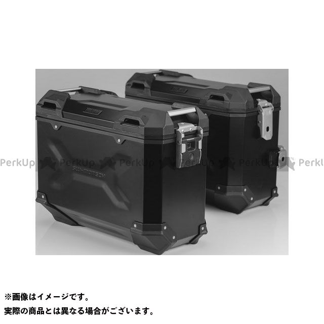 【エントリーで更にP5倍】SW-MOTECH Vストローム650XT ツーリング用ボックス TRAX(トラックス)ADV アルミ ケースシステム ブラック 37/37 l SWモテック