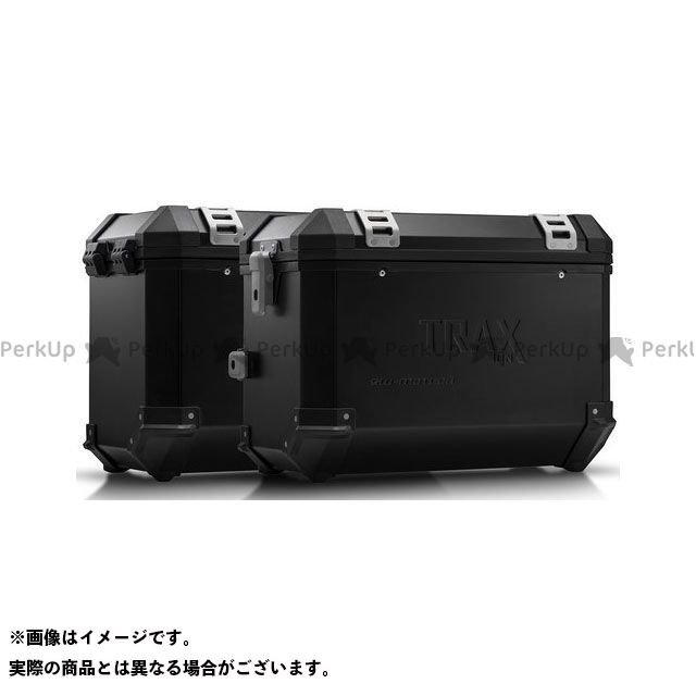 SW-MOTECH XT660Zテネレ ツーリング用ボックス TRAX(トラックス)ION アルミケースシステム ブラック 45/45 l. Yamaha XT 660 Z T?n?r?(07-) KFT.06 SWモテック
