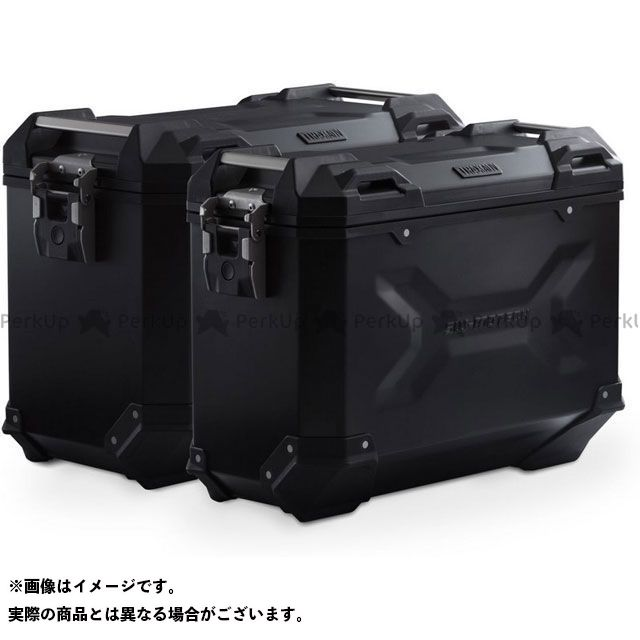 SW-MOTECH F650GS F700GS F800GS ツーリング用ボックス TRAX ADV アルミ ケースシステム -ブラック- 37/45 l. BMW F 800/700/650 GS(08-).|KFT.07.559 SWモテック