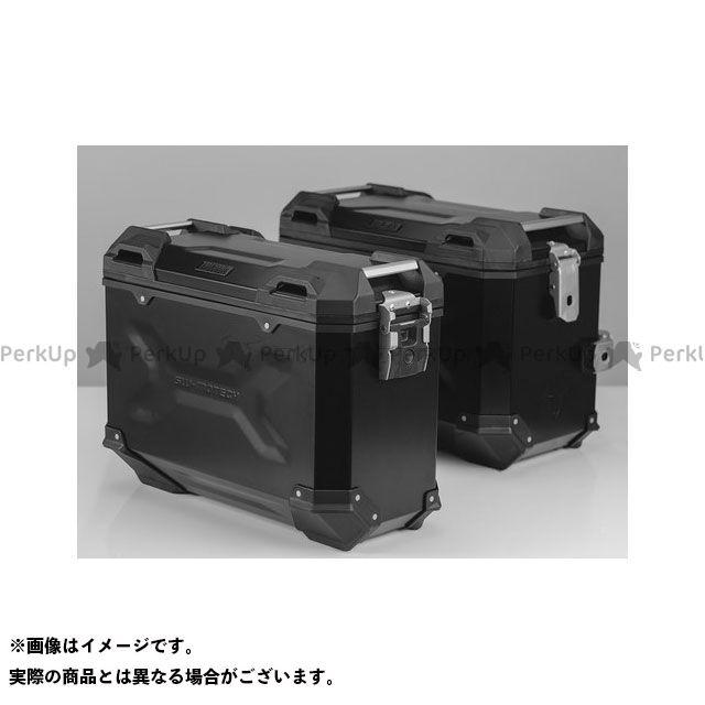 SW-MOTECH KLR650 ツーリング用ボックス TRAX(トラックス)ADV パニアシステム ブラック 45/37 L、Kawasaki KLR 650(08-) SWモテック