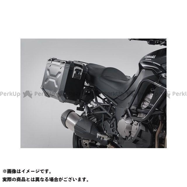 SW-MOTECH ヴェルシス1000 ツーリング用ボックス TRAX(トラックス)ADV パニアシステム ブラック 37/37 L、Kawasaki Versys 1000(15-) SWモテック