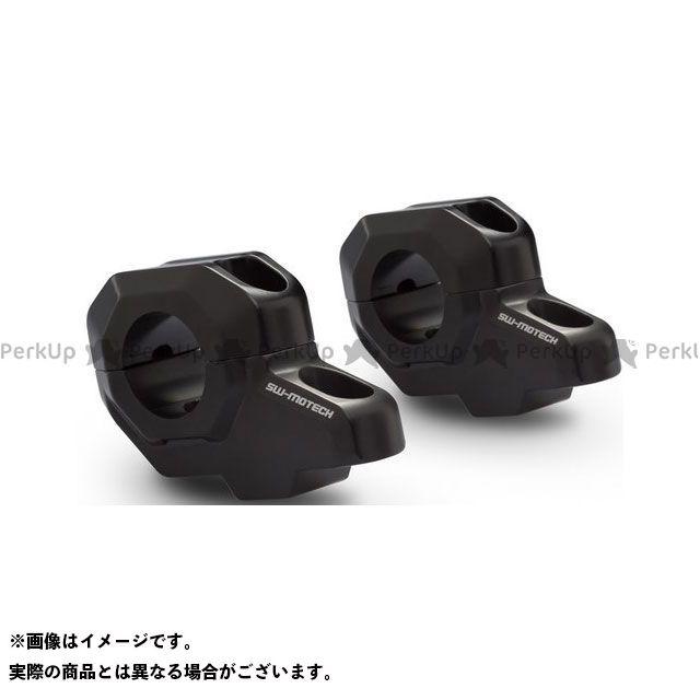 【エントリーで更にP5倍】SW-MOTECH ハンドル関連パーツ Bar back Φ28 mm ハンドルバー. H=30 mm. Back 22 mm ブラック SWモテック