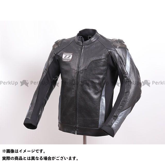 DEGNER ジャケット 2020春夏モデル 20SJ-4 メッシュレザーレーシングジャケット(ブラック/ガンメタル) サイズ:M DEGNER
