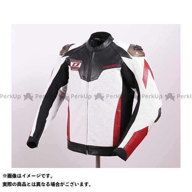 デグナー ジャケット 2020春夏モデル 20SJ-4 メッシュレザーレーシングジャケット(ホワイト/レッド) サイズ:M DEGNER