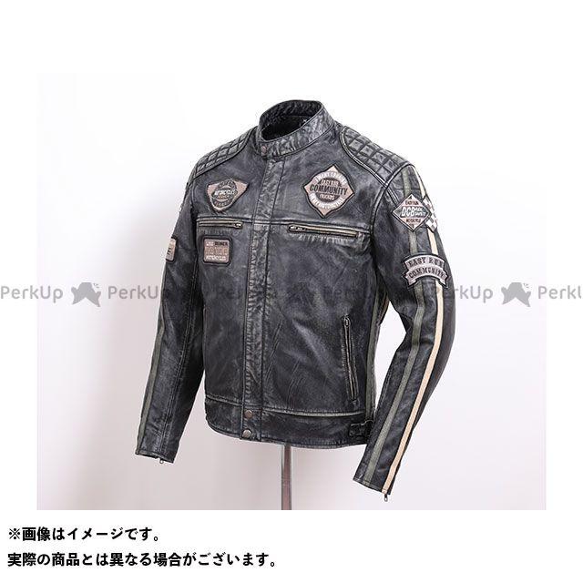 デグナー ジャケット 2020春夏モデル 20SJ-7 ワックスレザージャケット(ブラック/グリーン) サイズ:M DEGNER